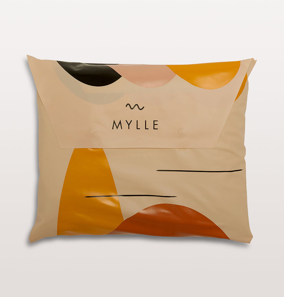 Shapes pool by Mylle in a sunset palette of terracotta, ochre, sand and desert pink. £125 wagreen.co.uk