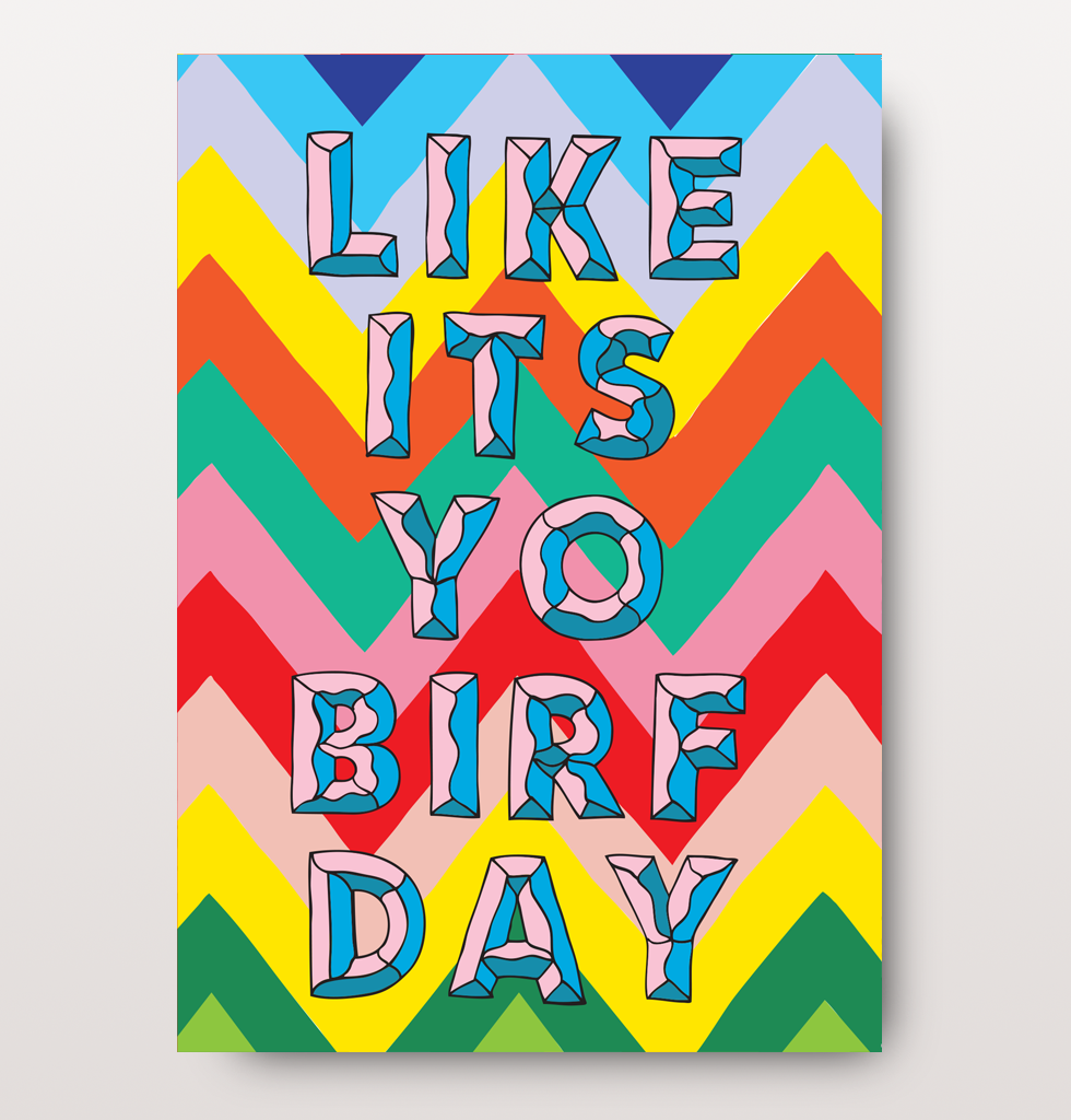 FUNNY BIRTHDAY CARD | IT'S YO BIRF DAY
