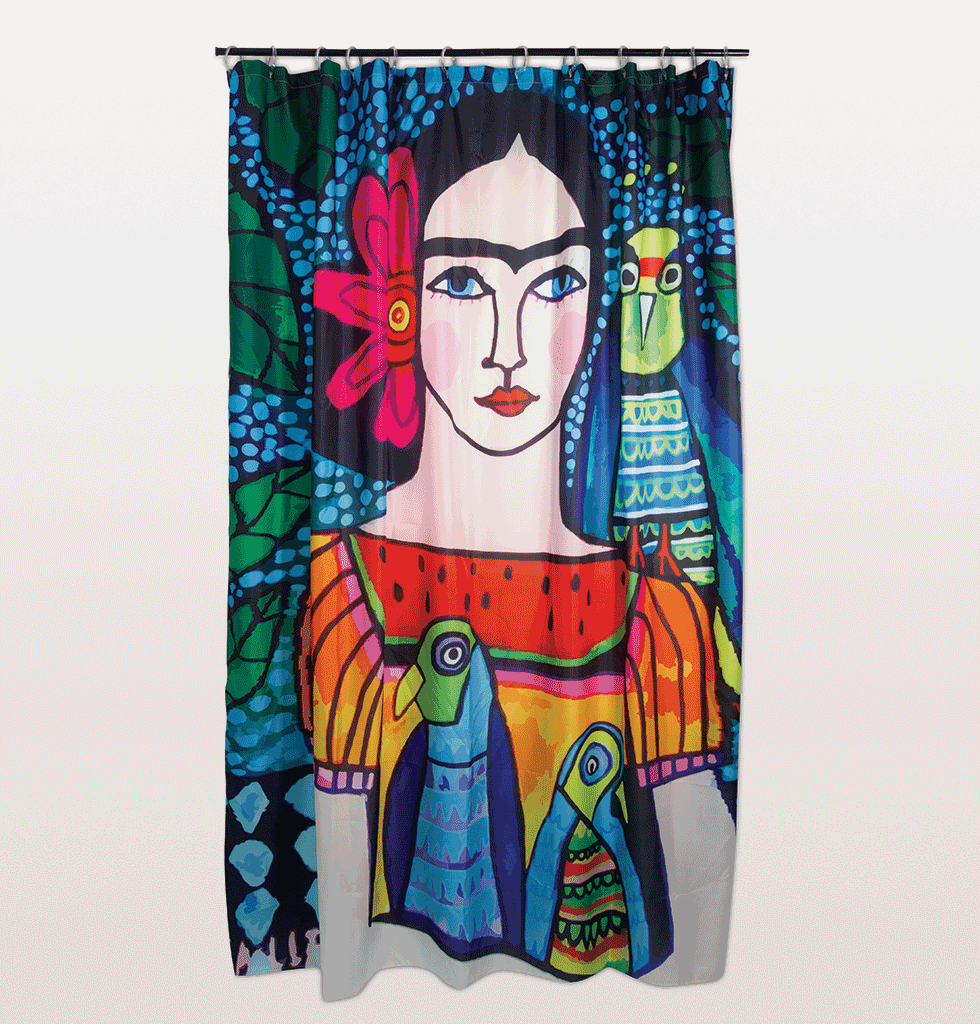 Frida Kahlo shower curtain by Kitsch Kitchen