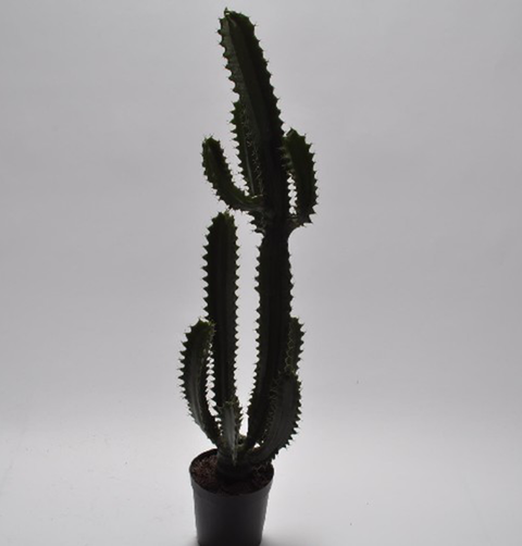FAUX GREEN TALL CACTUS
