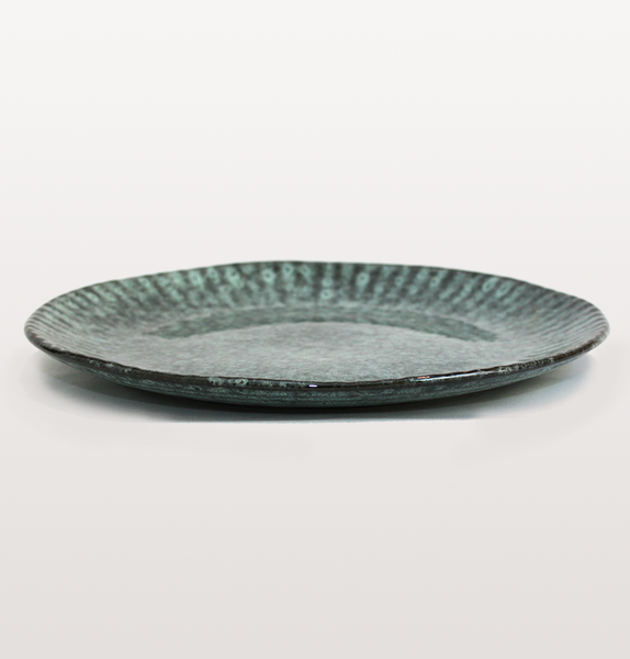 TURQUOISE STONEWARE SIDE PLATE