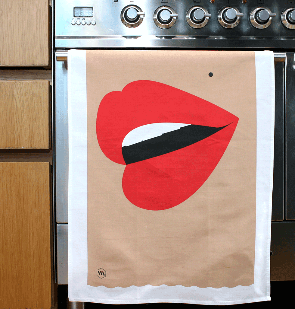 HOME PERK UP PACK 3 | WATCH YOUR MOUTH | Our own brand Talk Dirty Dishes to Me tea towel adds lip smacking fun to any surface, whilst the Studio Blow mug adds the sass to your morning cuppa. The Slowdown Studio jigsaw puzzle is an easy chic way to pass the time