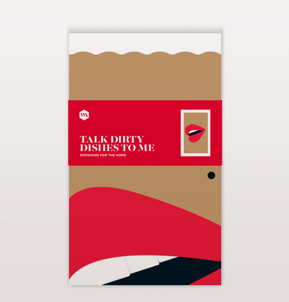 Talk dirty to me mouth tea towel with red lips by W.A.Green. £8 wagreen.co.uk