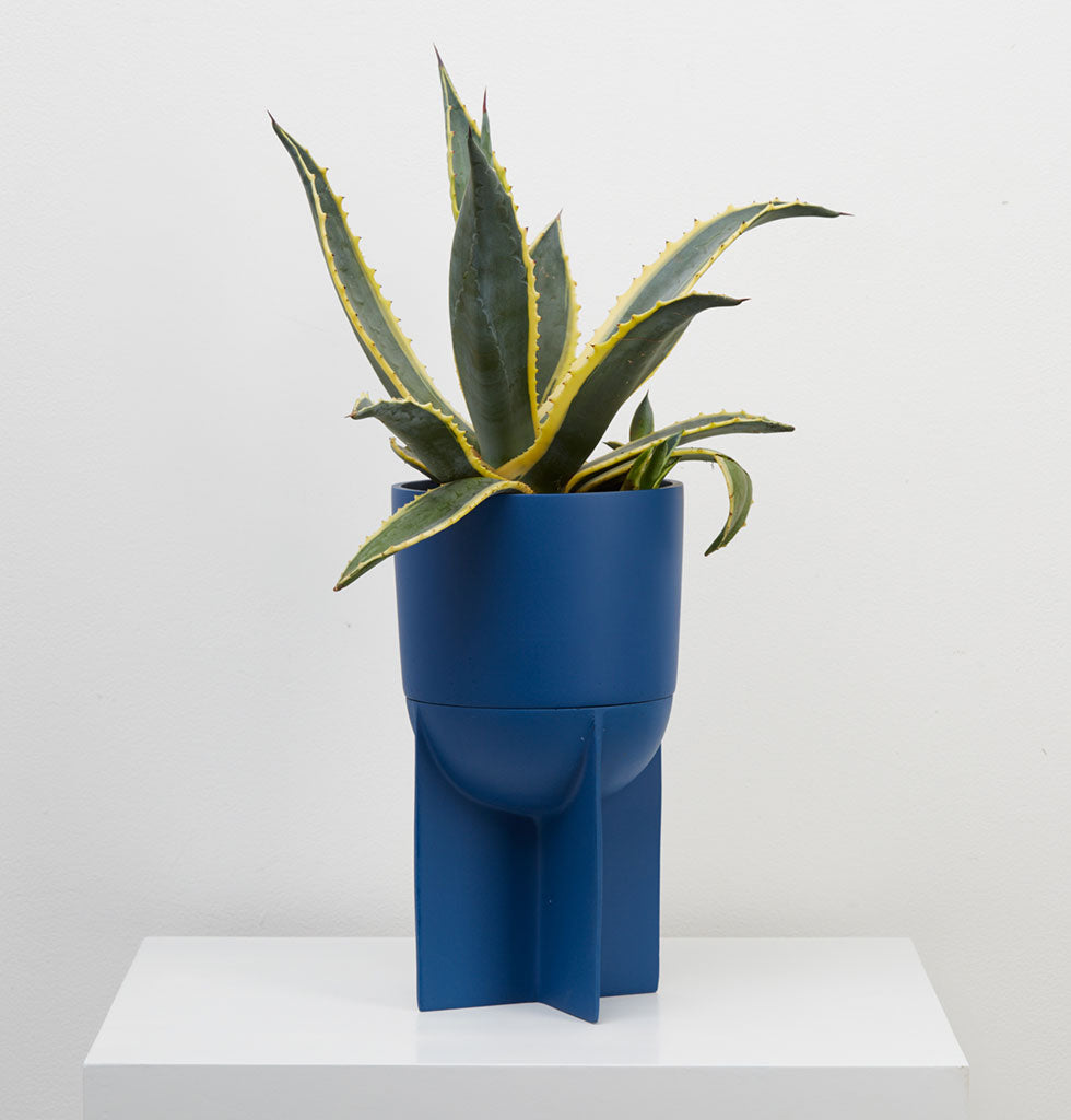 Eros Planter is as beautiful as it is practical.  This tall and circular shaped indoor planter available in a rich Terracotta brown or deep Neptune blue coloured resin.