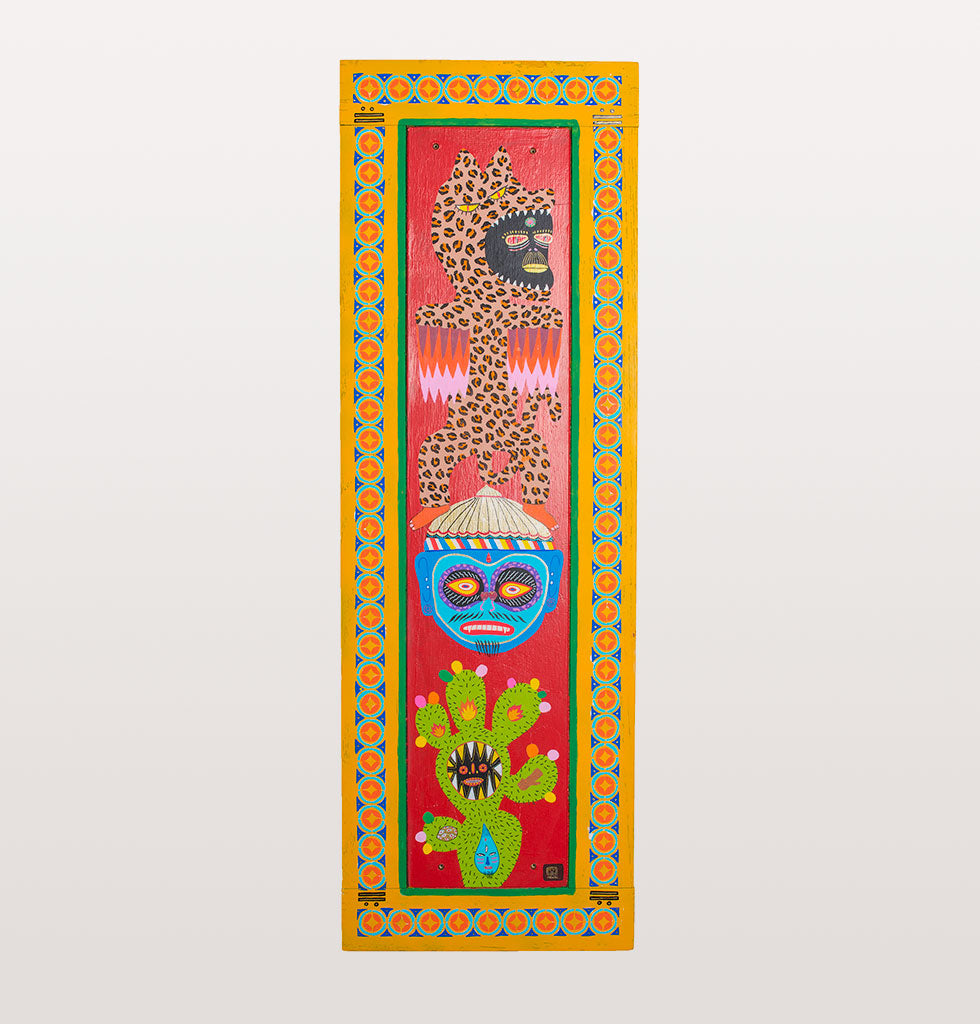 Pakal The Protectors painted door panel