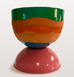 CHUBBY PLANTER by TINA VAIA, LARGE MULTI COLOURED TERRACOTTA POT