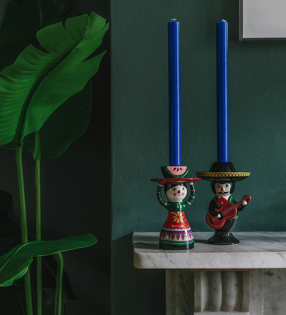 MARIACHI MEXICAN CANDLEHOLDER (SECOND)
