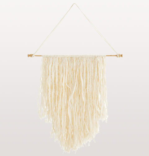 WHITE COTTON WALL HANGING