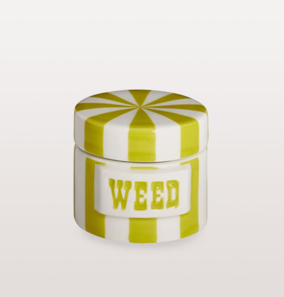 W.A.GREEN | JONATHAN ADLER | Don't pop anything in here that you don't want your guests to see as they're sure to have a snoop inside when your not looking! Adorable little trinket pot which is ideal for keeping earring studs or rings safe while you sleep off your life.   Part of the Vice storage jar collection designed and sculpted by Jonathan and his team in his Soho studio. A gaggle looks stunning on any countertop. £32