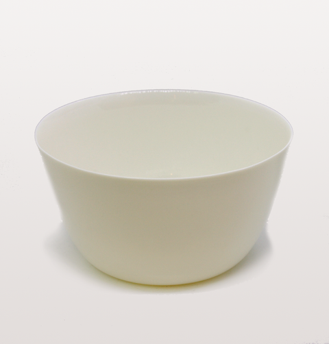 IST London, salad bowl mont Blanc white porcelain tableware, handmade slip cast plate, milk white dinnerware