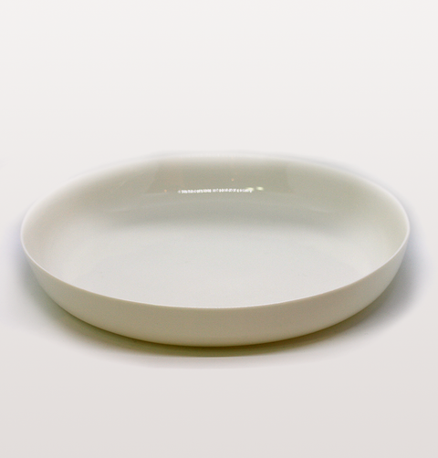 MILK WHITE SERVING DISH