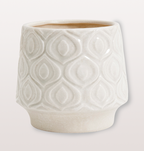 VINTAGE FLOWER POT WHITE