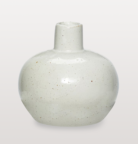 WHITE PORCELAIN STEM VASE