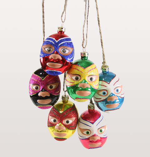 MEXICAN WRESTLER MASK CHRISTMAS DECORATION