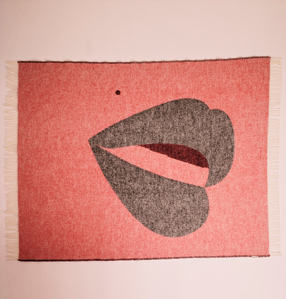 Lips blanket Goodnight kisses by W.A.Green London