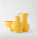 Contemporary ceramic yellow fruit bowl