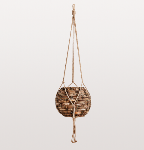 GIANT HANGING RATTAN PLANTER