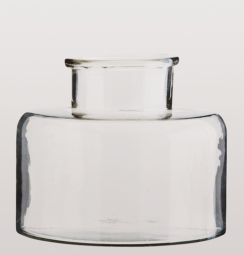 CLEAR GLASS VASE LARGE