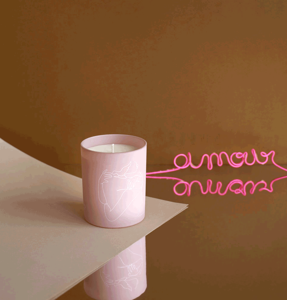 AMOUR LUXURY JASMINE SCENTED CANDLE by Label Bougie