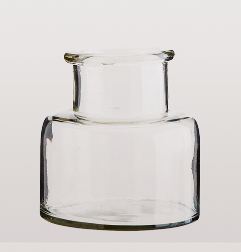 CLEAR GLASS VASE MEDIUM