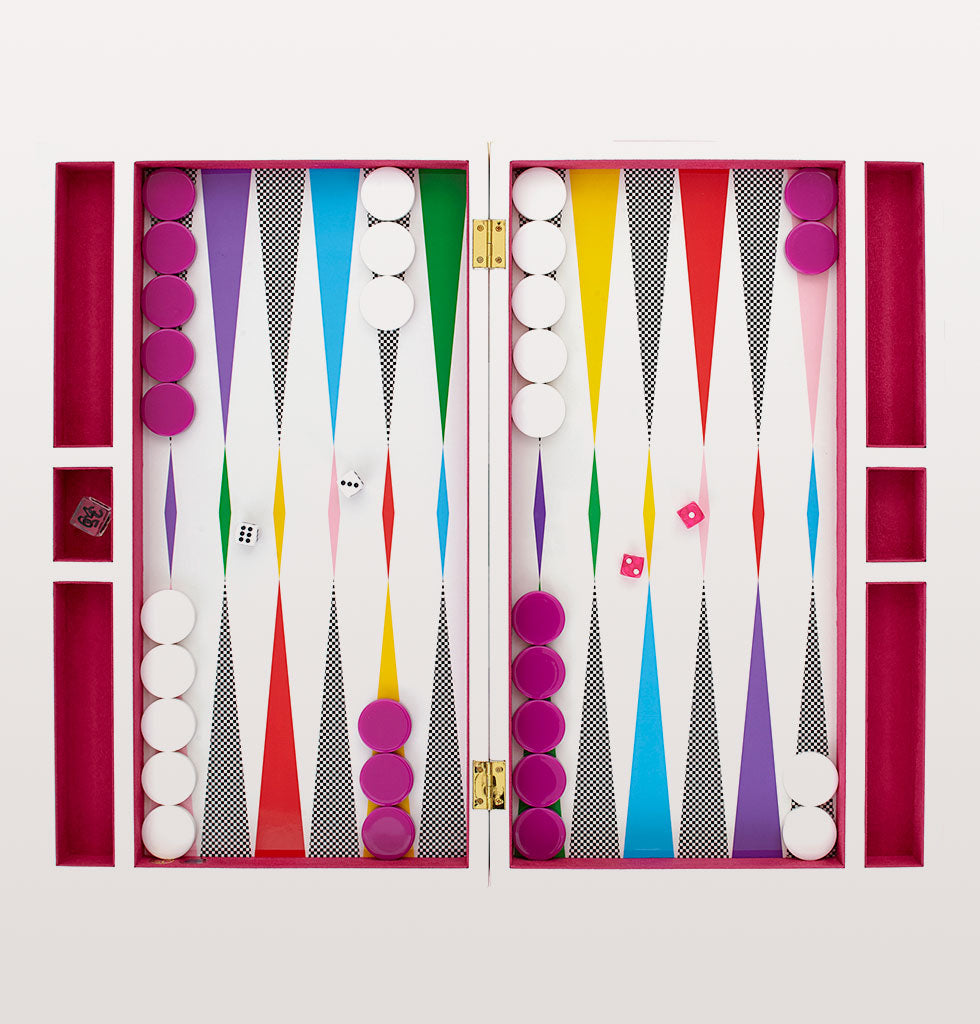 Jonathan Adler rainbow checkerboard backgammon set. £395 wagreen.co.uk
