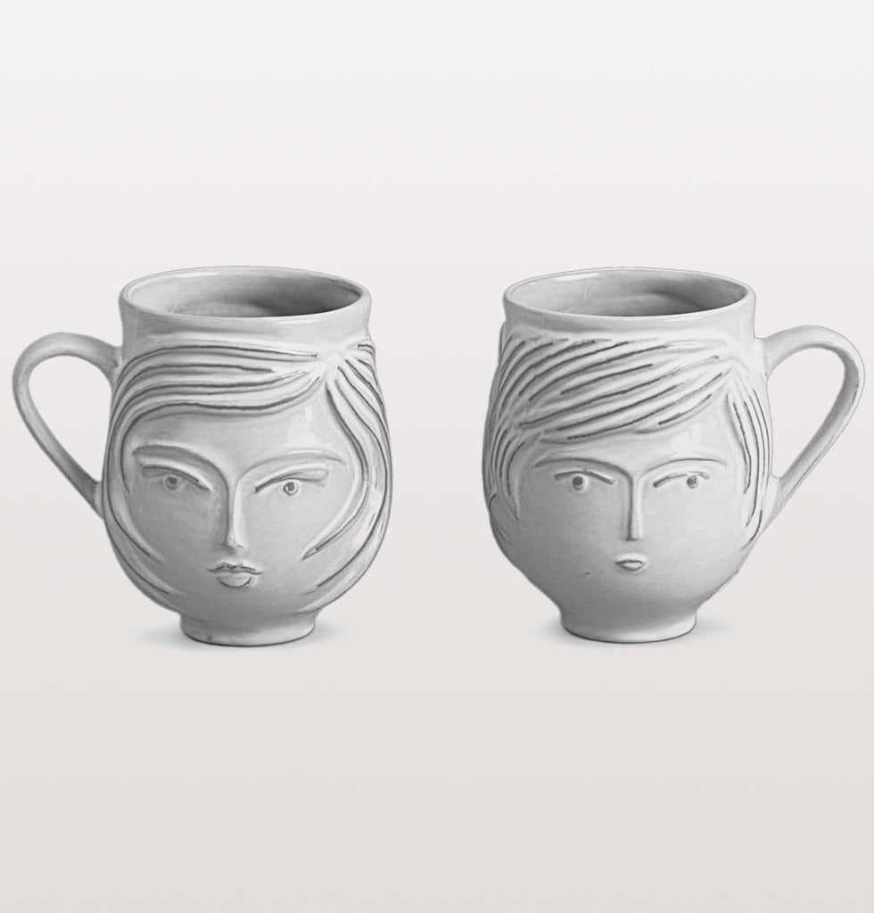jonathan adler white utopia boy girl mug his and hers