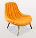 ORANGE BRIGITTE LOUNGE CHAIR
