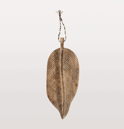 WOODEN LEAF SERVING DISH