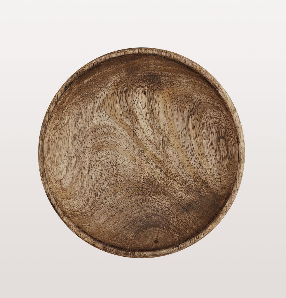 Indian carved wooden serving plate for the table by Madam Stoltz.