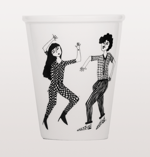 Helen B dancing couple cup