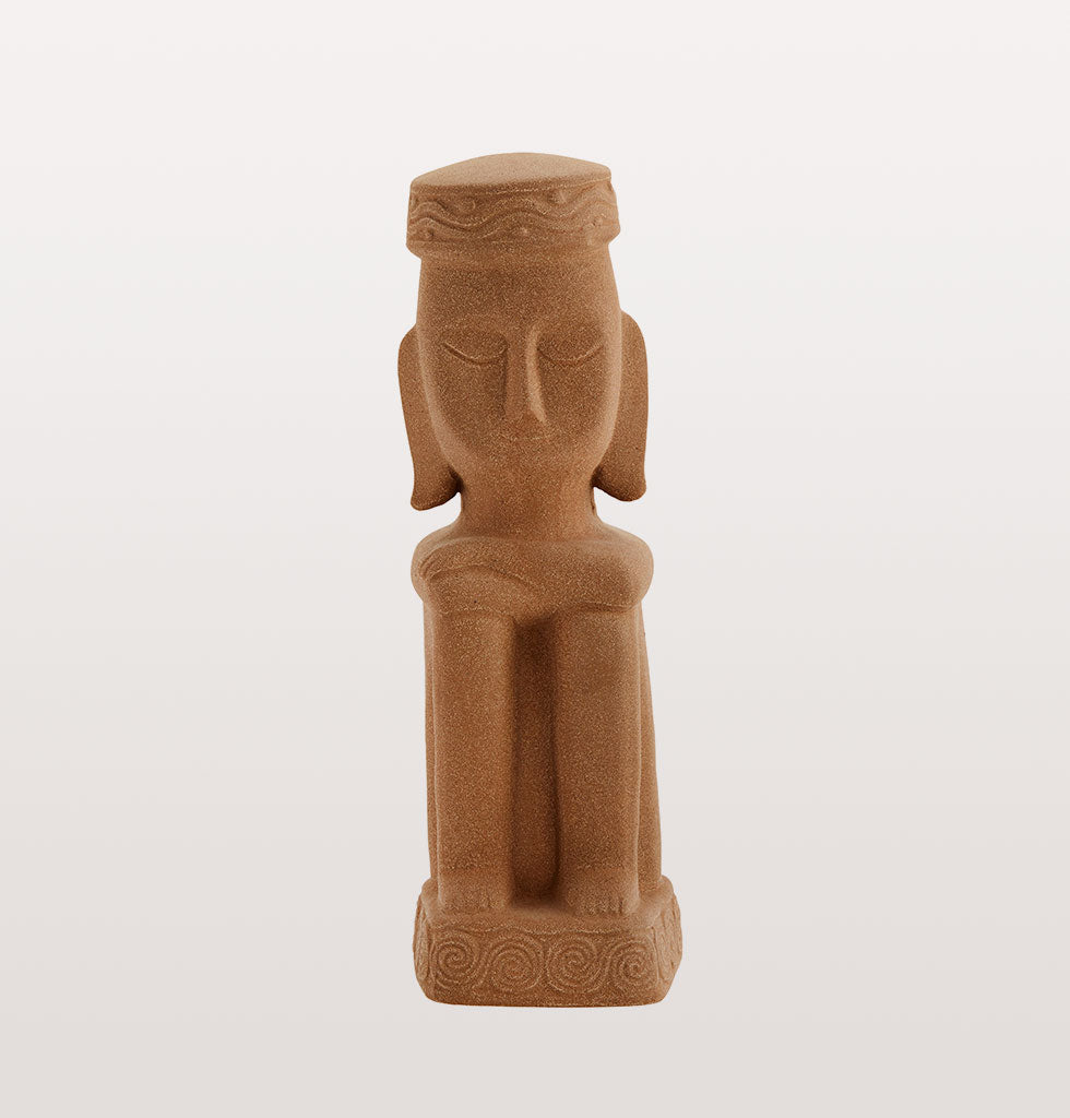 Effortless way to add some drama and show your adventurous side with this lovely big and heavy Inca inspired stoneware terracotta red statue.  Madam Stoltz