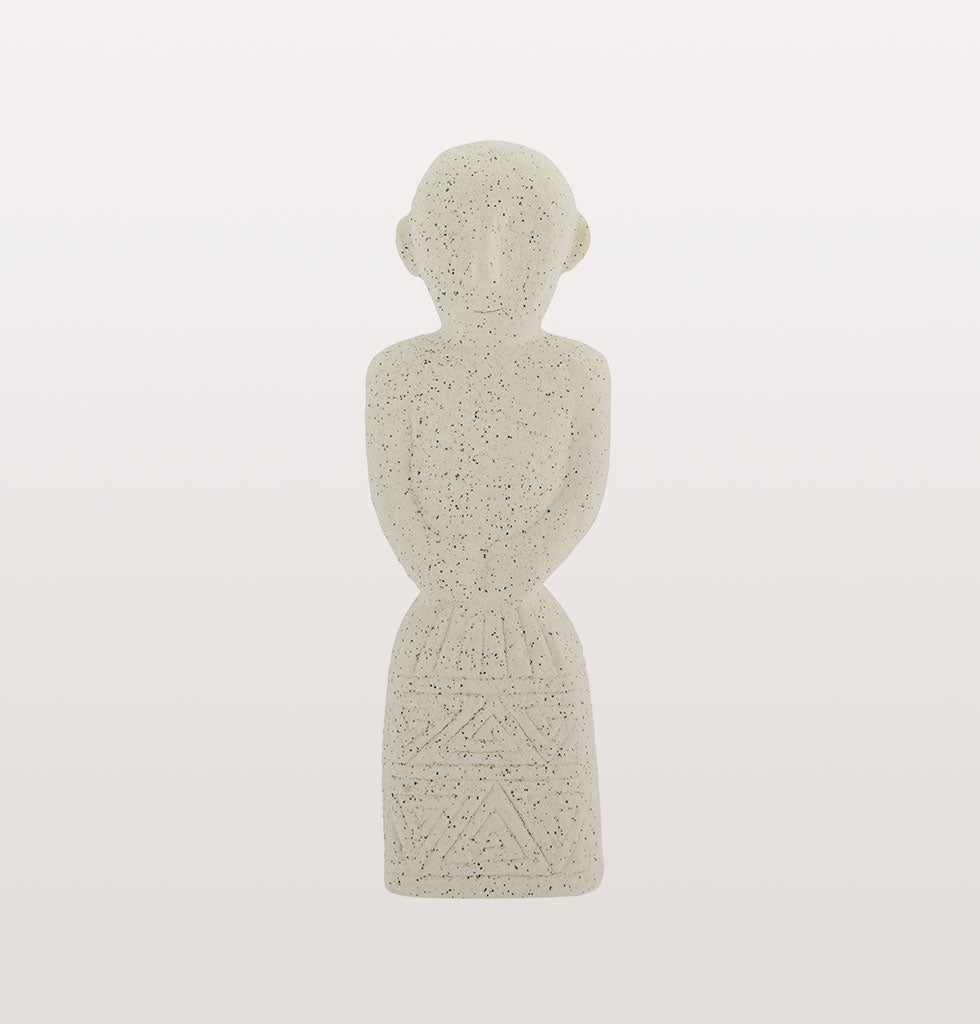 Simple white stone statue by Madam Stoltz