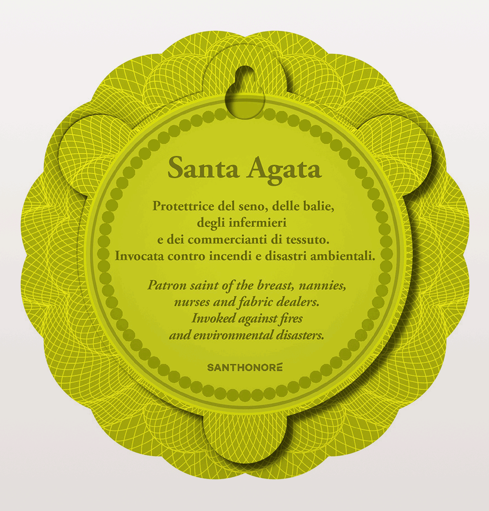 Santa Agata Patron saint of breasts Saint Agatha wall hanging icon