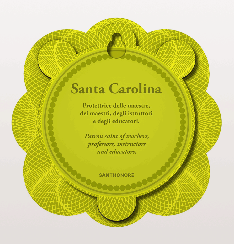 SANTA CAROLINA - PATRON SAINT OF TEACHERS