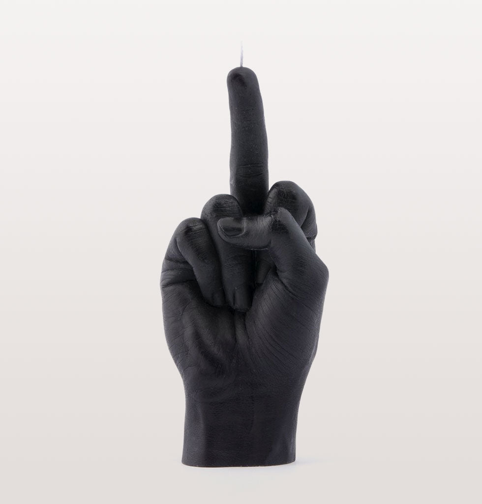 Middle finger F*CK YOU CANDLE HAND BLACK