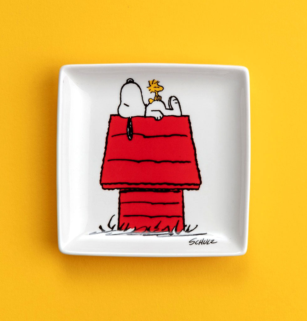 PEANUTS 'HOUSE' TRINKET TRAY Snoopy and Woodstock