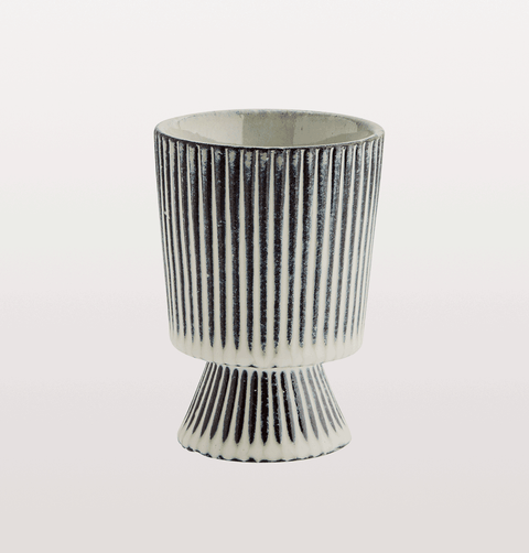 Black and white striped planter madam stoltz