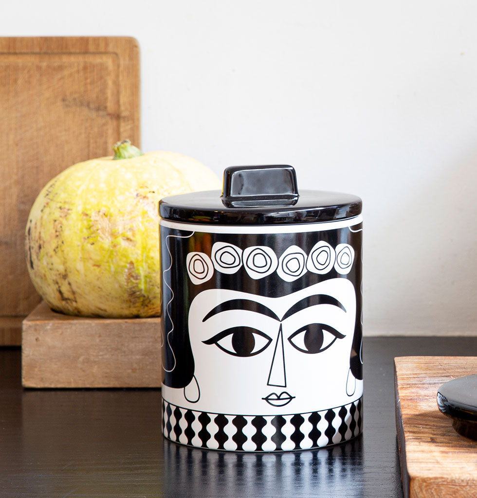 W.A.GREEN | KITSCH KITCHEN | Marisol storage jar. £29 wagreen.co.uk