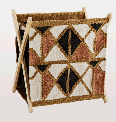 Fabric magazine holder by madam stoltz