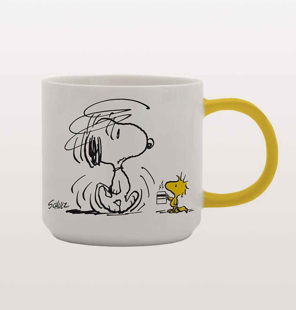 "Peanuts Snoopy Mug ""I'm not worth a thing before coffee"". £13 wagreen.co.uk"