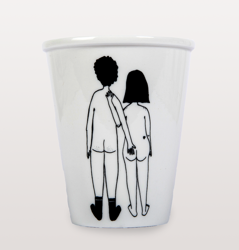 Helen B Naked Couple Backs Cup