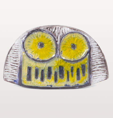 POTTERY GLASS OWL
