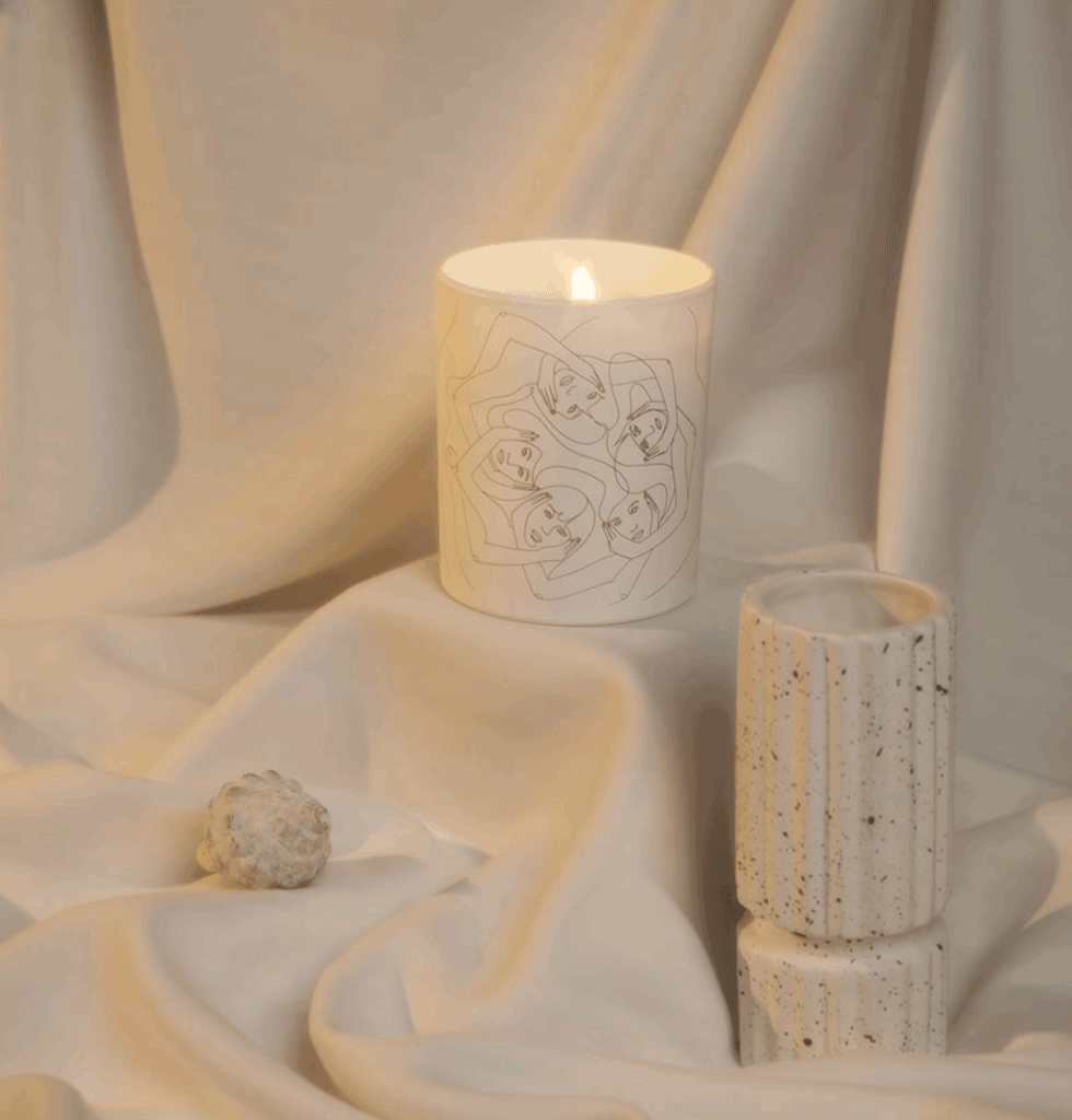 RITUEL LUXURY WOOD SMOKE SCENTED CANDLE by Label Bougie