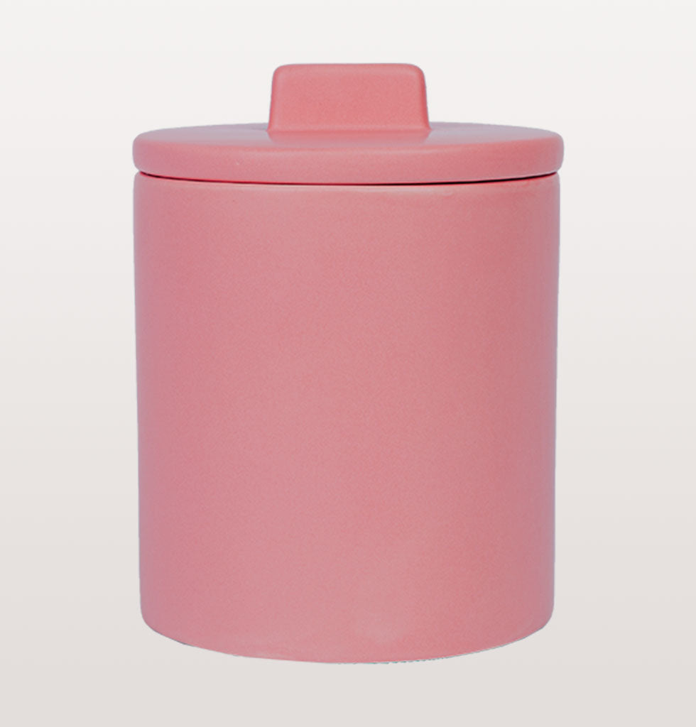 W.A.GREEN | KITSCH KITCHEN | Large retro storage jar in pink. Perfect lidded jar in the kitchen for tea and coffee, in the bathroom for cotton wool pads or in the bedroom for hair bands, you'll love it. £33 wagreen.co.uk