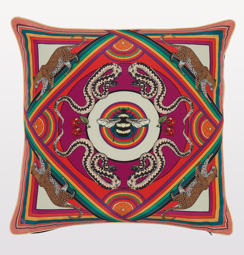 LARGE MULTI TRIPPY TOWN CUSHION
