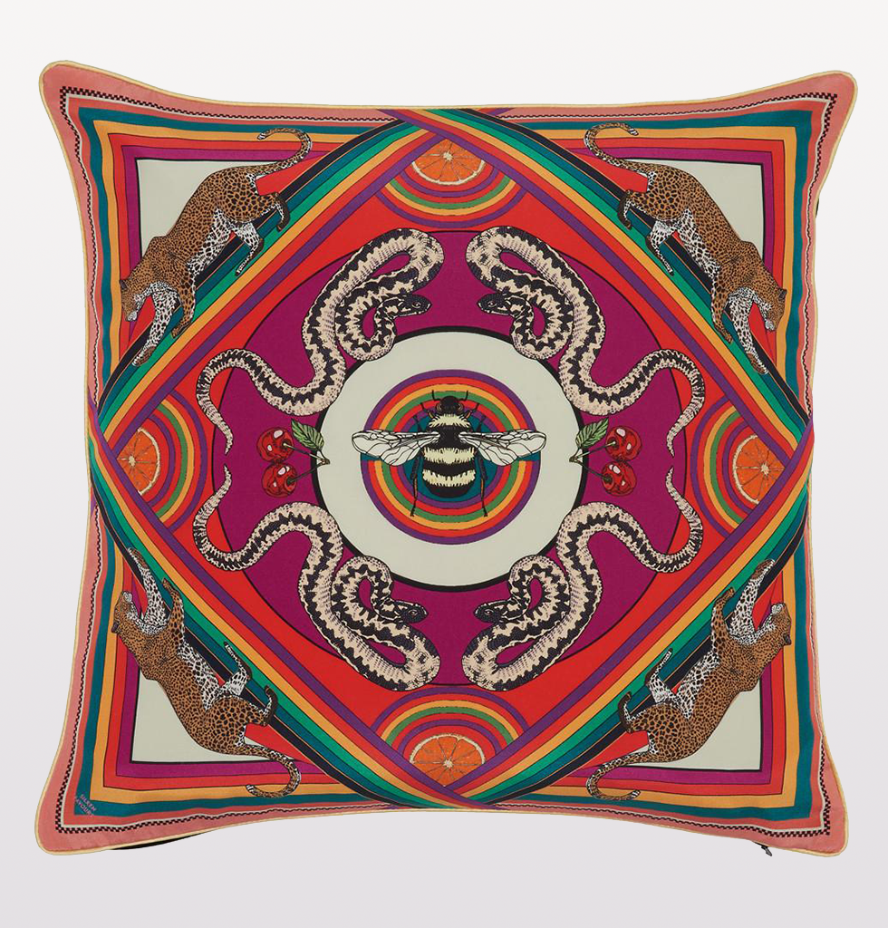 MULTI TRIPPY TOWN CUSHION