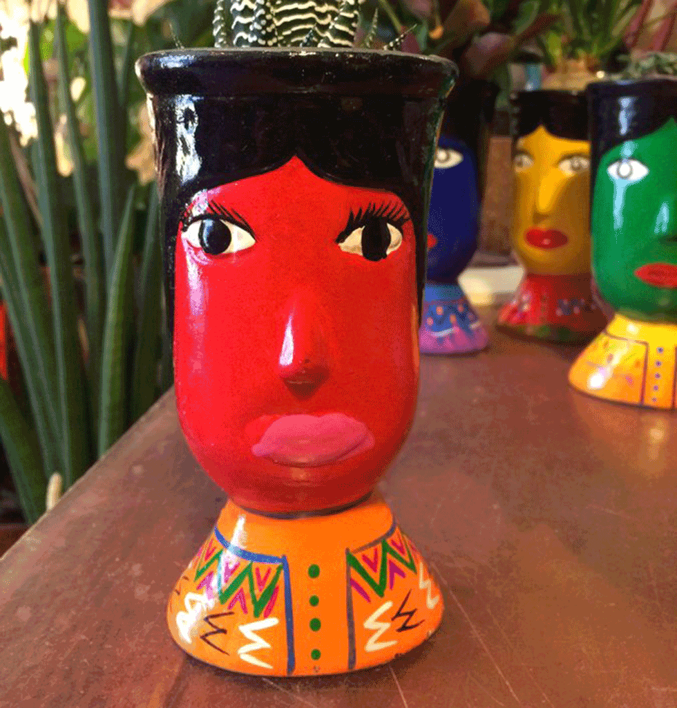 Red guatamala head vase. £20 wagreen.co.uk