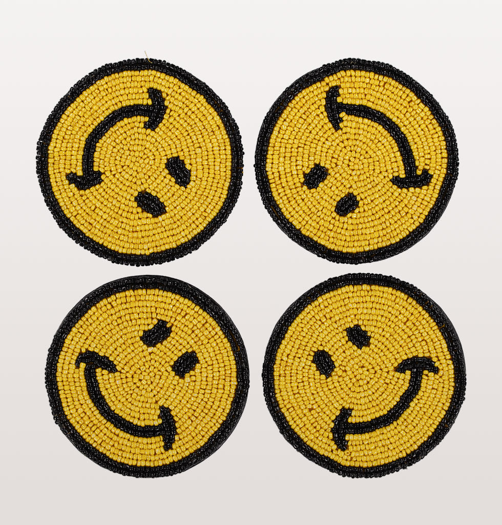 SMILEY COASTER SET