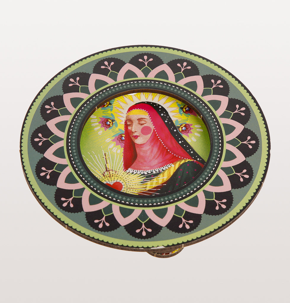 Santa Chaira, patron saint of television wall plaque. Iconography for a gallery wall