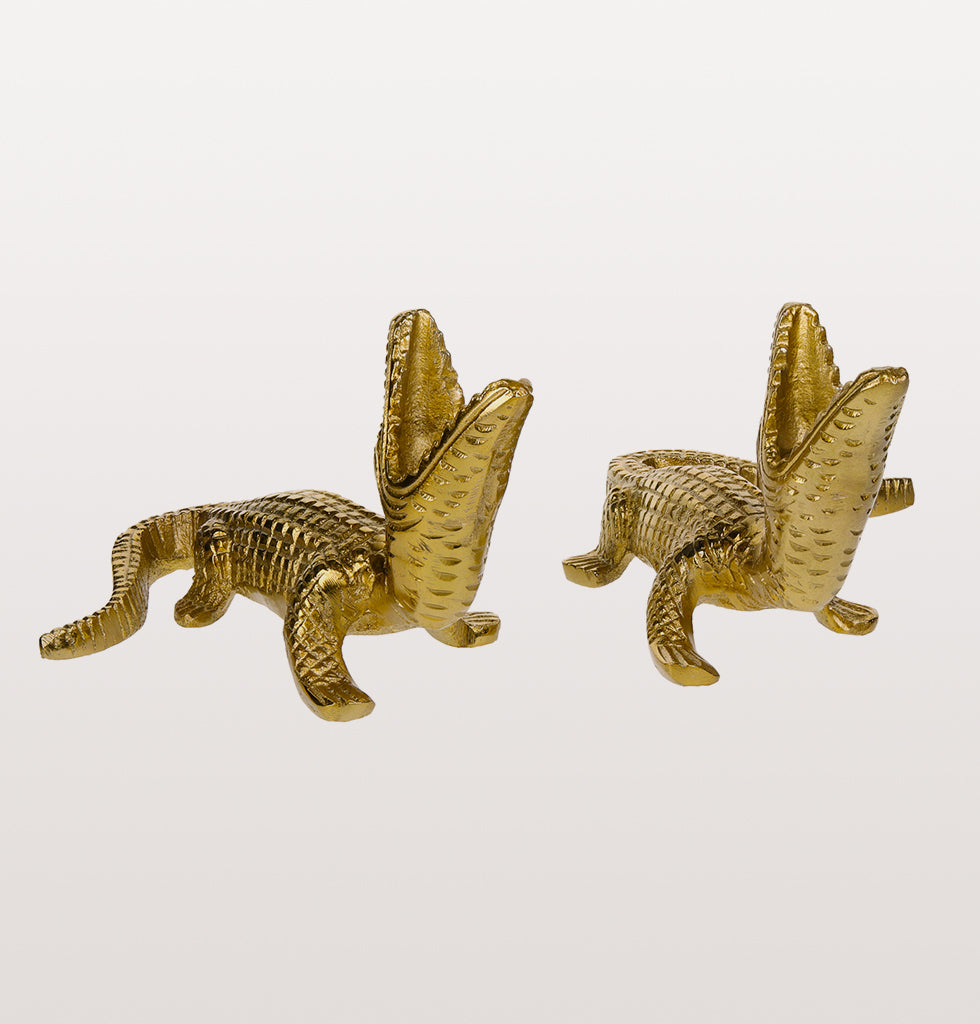 CROCODILE CANDLE HOLDER SET